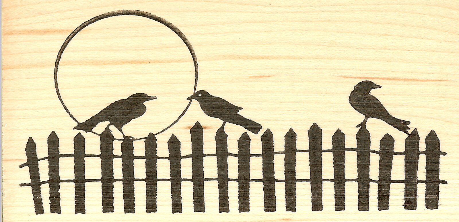 NEW O6710 Spooky Rooftops Halloween Wood Mounted Rubber Stamp NORTHWOODS