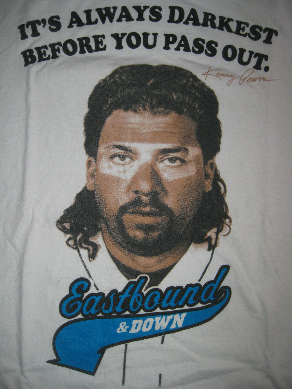 ORIGINAL KENNY POWERS EASTBOUND & DOWN t shirt washed HBO PROMO BASEBALL COMEDY