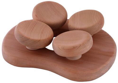 Innovative Sauna Kopfstütze mit 4-Punkt Kopfauflage aus hochwertigem Red Cedar