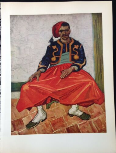 """1950 Vintage Full Color Art Plate /""""THE ZOUAVE/"""" by VAN GOGH FABULOUS Lithograph"""