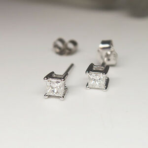 Solitaerohrstecker-Ohrschmuck-mit-0-40ct-TW-si-Diamant-in-750-18K-Weissgold-Neu