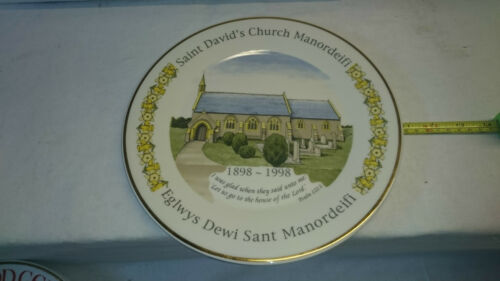 Limited Edition commemorative plate. 100 Years of St. Davids Church Manordeifi.