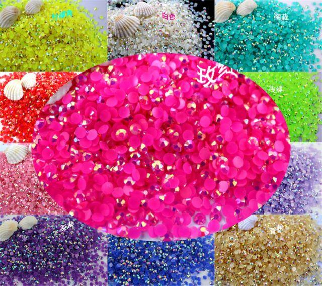 DIY 3mm Shiny Jelly Color AB Rhinestones Mobile Beauty Nail Art Acrylic Beads