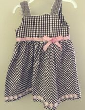 Wonder Kids Dress Size 2T Brown And White With Pink
