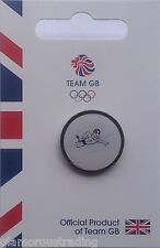 OFFICIAL TEAM GB OLYMPIC SWIMMING PICTOGRAM PIN