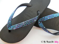 Crystal flip flops HAVAIANAS or low wedge using SWAROVSKI CRYSTALS NEW COLOR