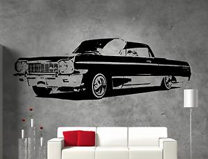 64 Impala Chevrolet VINTAGE Low Rider Adesivo Vinile Wall Art  </span>
