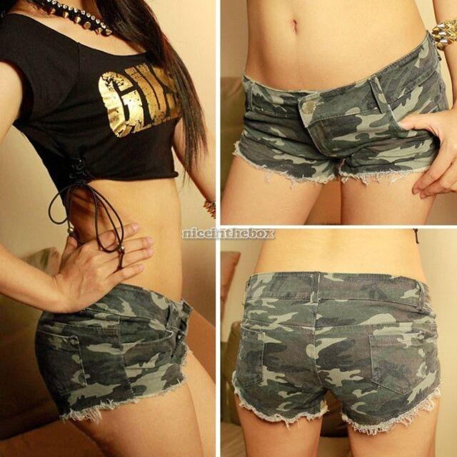 Women's Sexy Camouflage Jeans Short Shorts Hot Pants Denim Low Waist Daisy Dukes