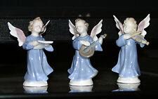 Lladro-like Porcelain Figurines~Little Angels Playing Instruments/Singing~Sweden