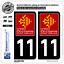 11 Occitanie LogoType 2 Stickers autocollant plaque immatriculation