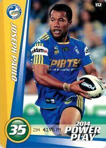 New-2014-PARRAMATTA-EELS-NRL-Card-JOSEPH-PAULO-Power-Play
