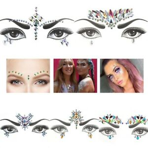 9defbb1af Image is loading Body-Adhesive-Glitter-Stickers-Tattoo-Face-Gems-Rhinestone-