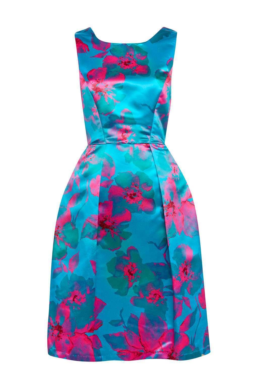 BNWT Closet Floral Printed Pleat Dress 12
