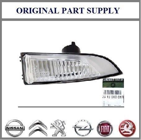 Lámpara luz indicadora de espejo derecho genuino 261600001R para Renault Laguna 07-18