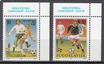 Yugoslavia Nr 2412-2413** Fußball Wm 1990 In Italien Jugoslawien
