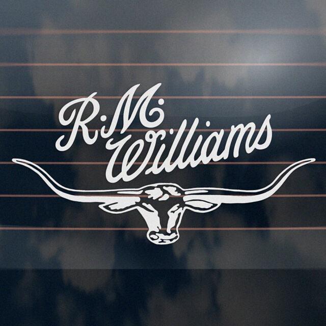 R m williams longhorn sticker 300mm rmw bns ute rm car window decal