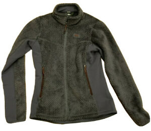 REI-Women-039-s-Purple-Gray-Jacket-Furry-Full-Zip-Up-Side-Pockets-Size-Small