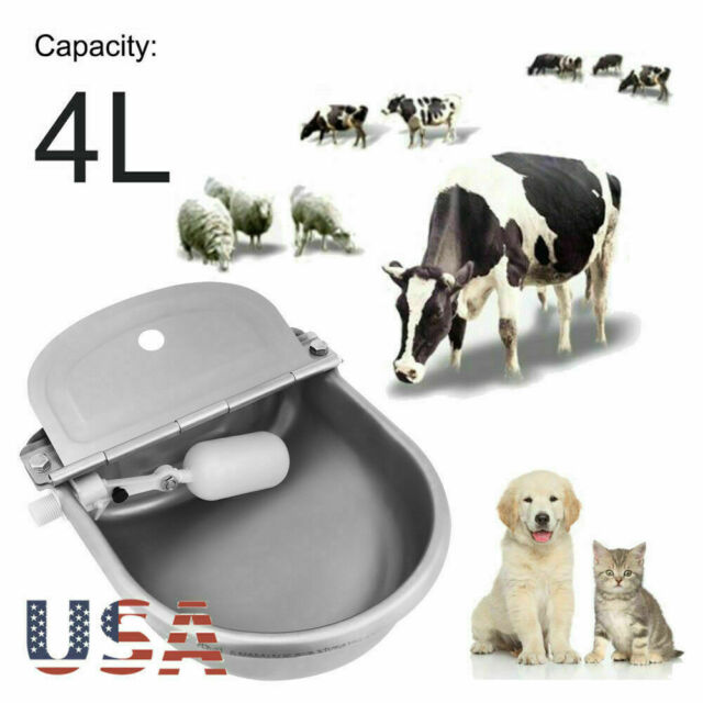 Automatic Water Bowl Float Valve Drinking`Stock Plastic Farm For Horse Sheep Dog