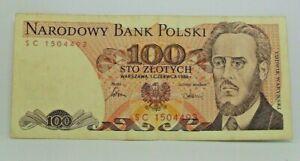 Km# 143e - 100 zlotych 1986 - TTB - Billet Pologne - N7885