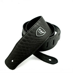 Guitar-Strap-Adjustable-Electric-Bass-Thick-PU-Leather-Python-Skin-Pattern-New