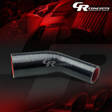 "SILICONE REDUCER COUPLER 1.25/"" /> 1/"" BLACK Race 5PLY HOSE INTERCOOLER TURBO MBS"