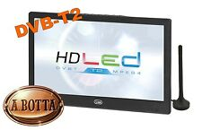 """Televisore TV LED HD Portatile 10.1"""" pollici TREVI LTV 2010 HD 12 Volt - DVB-T2"""