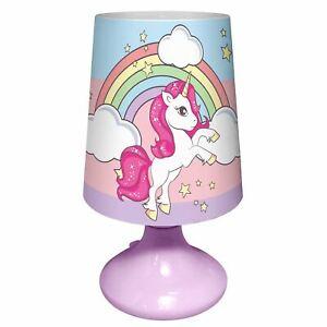 Licorne-Bureau-Table-Lampe-LED-Cylindre-Projecteur-Portable-Enfants