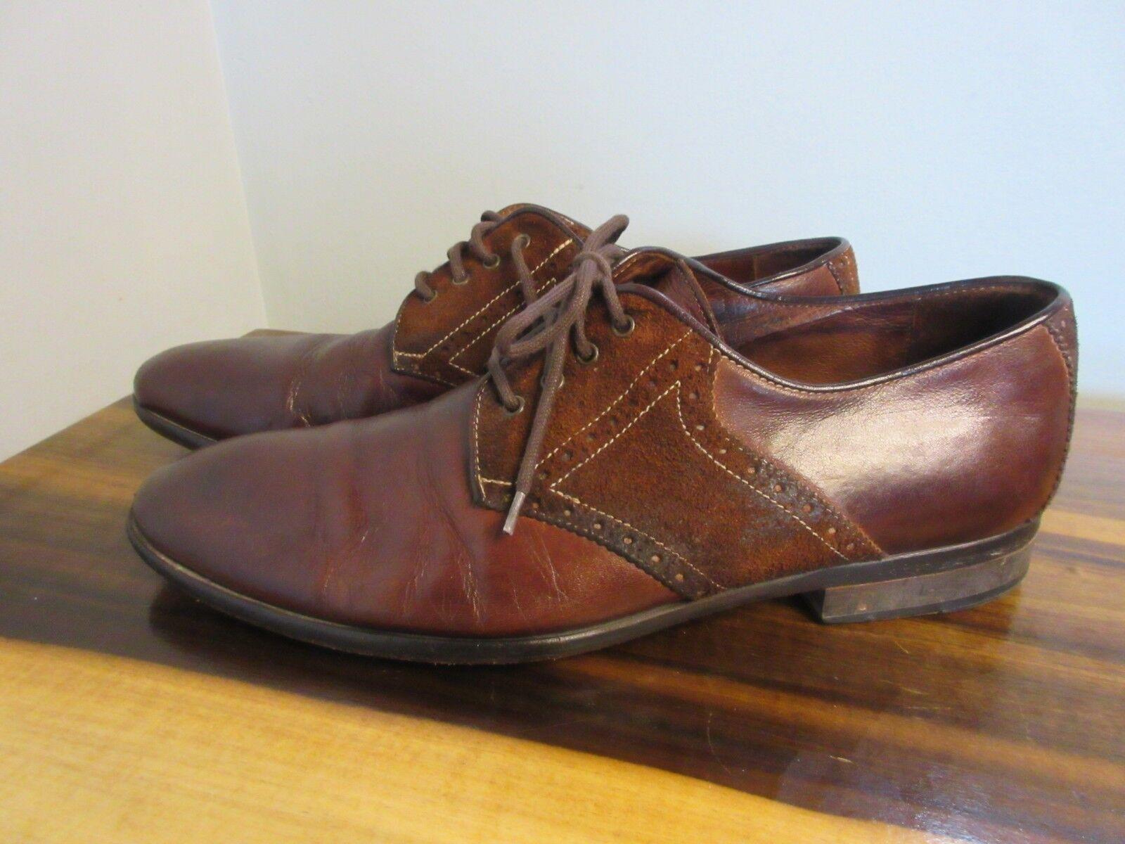 J & M 1850 Uomo Pelle Derby marrone Shoe SIze 9.5 Dress Oxford