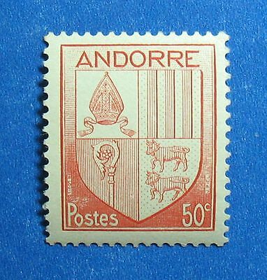 1944 Andorra French 50c Scott# 81 Michel # 98 Unused Nh Cs27413 Structural Disabilities Europe