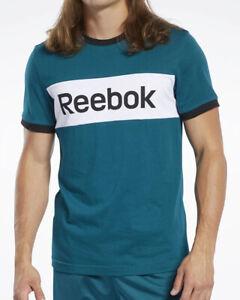 Reebok Essentials Linear Freizeit T-shirt grün coton Herren