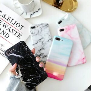 Pastel-Marble-Pattern-Cover-Case-Soft-Shockproof-For-iPhone-X-6-8-7-Plus-5-Max