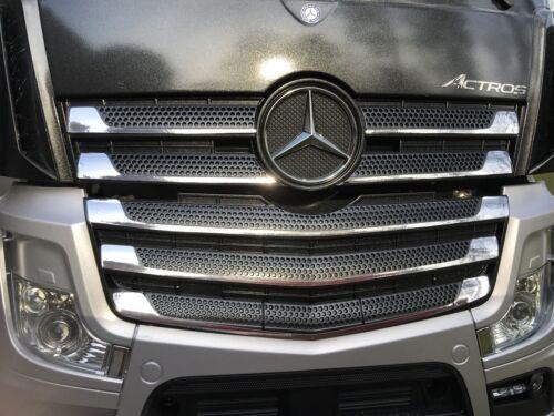 1:14 Kühlergrill Chrom Folie für Tamiya Mercedes Actros