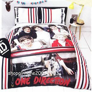 Image Is Loading One Direction 1d Red Single Twin Bed Quilt