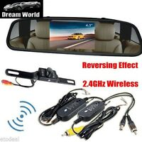 4.3 Tft Car Mirror Monitor+wireless 2.4 Ghz Rear View Camera Night Vision