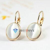 New Fashion 18K Rose Gold Plated Opal Stone Dangle Earrings Jewelry EC26R1
