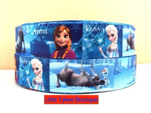 "✂ Disney Frozen Ribbon 1/"" Wide 1m is only £0.99 ✂ NEW UK SELLER"