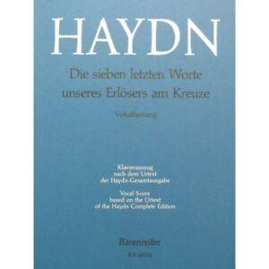 Noten & Songbooks Haydn Joseph Die Sieben Letzten Worte Chant Piano 1964 Partitur Sheet Music Sco Knitterfestigkeit Antiquarische Noten/songbooks