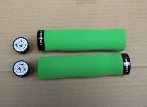 LINKBEAR Sponge Soft Handlebar Lock-on Grips MTB Grips Fixed Gear Grips 110g