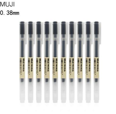 Muji Gel Ink Ball Point Pen 0.38-mm Black 10 Pcs 1