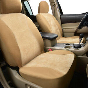 6pcs-universal-2X-front-Car-Seat-Covers-washable-Beige-Airbag-Compatiable