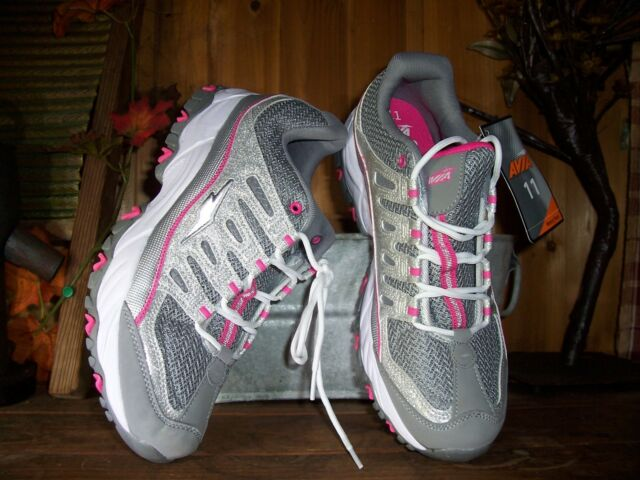 bb81327b8190 AVIA WOMENS ATHLETIC SHOES SIZE 11 MEMORY FOAM GRAY PINK LADIES CASUAL  STYLISH