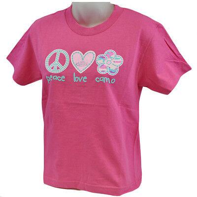 Team Rt Realtree Plc Peace Love Tarnfarbe Draußen Blume Tshirt Jugendliche Girls Und Ein Langes Leben Haben. Fanartikel