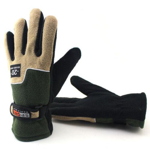 Men/'s Women/'s Snow Resistant Windproof Fleece Lined Thermal Winter Warm Gloves