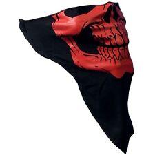 Biker Motorrad Chopper Rot Skull Totenkopf Face Mask Gesichtsschutz Maske Schal