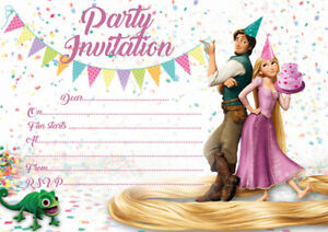 10 X Children Birthday Party Invitations Or Thank You Cards