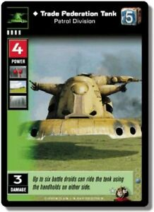 Star Wars Young Jedi CCG Battle Of Naboo Trade Federation Tank FOIL F16 VRF