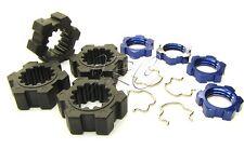 X-MAXX Wheel Hubs, 17mm Splined serrated Nuts & Hex Clips Traxxas 77086-4
