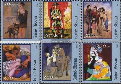 Art Stamps Never Hinged 2001 Paintings Enthusiastic Guinea-bissau 1618-1623 Unmounted Mint