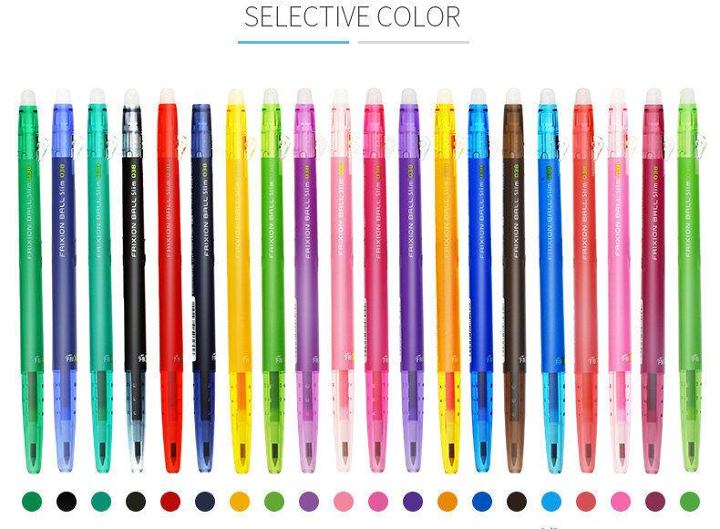 Pilot FriXion Slim Retractable Erasable Gel Pen Fine Point 0.38mm 20 colors Set