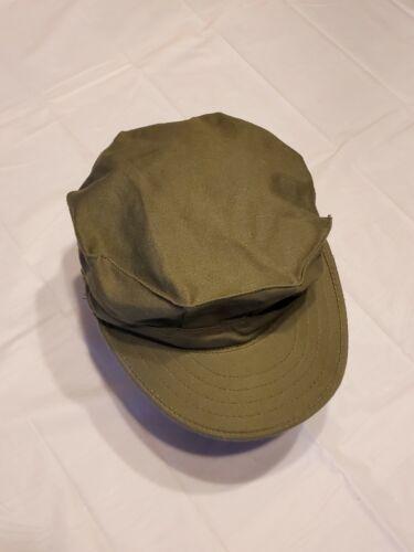 1982 vintage rip-stop USMC marine hat Large green… - image 1